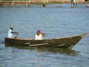 Fishing on Lake Victoria at Entebbe